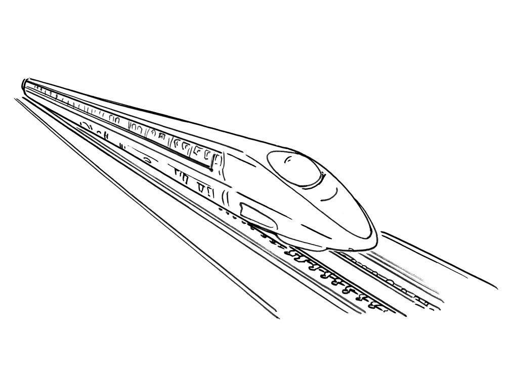 Coloriage Train 9 - Coloriage Trains - Coloriages Transports