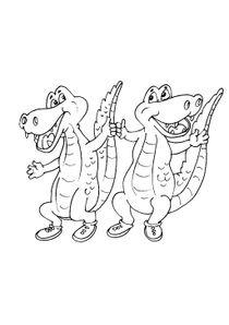 Coloriage Gratuit Crocodile.Coloriages Crocodiles A Imprimer Coloriages Animaux