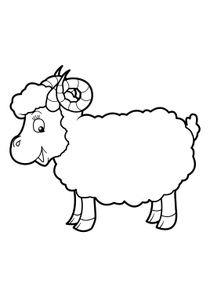 Coloriages Moutons à Imprimer Coloriages Animaux