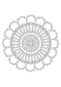 Coloriages Mandalas à Imprimer Coloriages Chiffres Et Formes