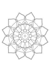 Coloriages Mandalas A Imprimer Coloriages Chiffres Et Formes