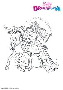 Coloriage A Imprimer Princesse Qui Vole.Dessin Barbie Princesse A Colorier