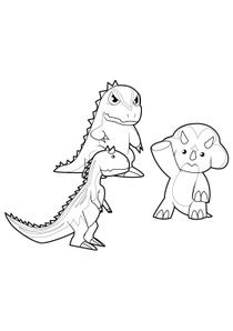 Coloriage Dinosaure King Terry.Coloriages Dinosaur King A Imprimer Coloriages Dessins Animes