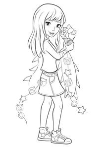 Coloriages Lego Friends A Imprimer Coloriages Dessins Animes