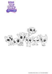 Coloriages Littlest Petshop A World Of Our Own A Imprimer Coloriages Dessins Animes
