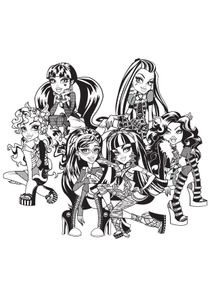 Coloriages Monster High A Imprimer Coloriages Dessins Animes
