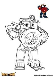 Coloriages Robot Trains A Imprimer Coloriages Dessins Animes