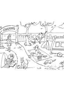 Coloriage De Camping Car A Imprimer Gratuit.Coloriages Camping A Imprimer Coloriages Divers