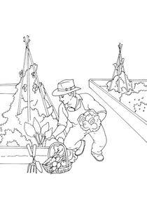 Coloriages Jardiniers à imprimer - Coloriages Metiers