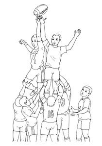 Coloriage Anniversaire Rugby.Coloriages Rugby A Imprimer Coloriages Sports