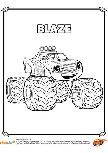 Blaze And The Monster Machines Coloring Pages 9 Monster Truck Coloring Pages Monster Coloring Pages Truck Coloring Pages