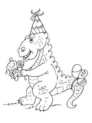 Coloriage Anniversaire Dinosaure Stegosaure Coloriage