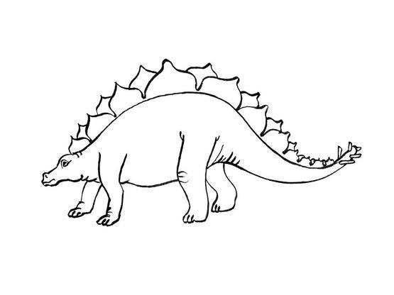 Coloriage Dinosaure Stegosaures Coloriage Dinosaures