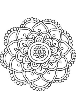 Coloriage De Mandala Fleur.Coloriage Mandala Fleur 11 Coloriage Mandalas Coloriages