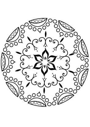 Coloriage Mandala Fleur 5 Coloriage Mandalas Coloriages