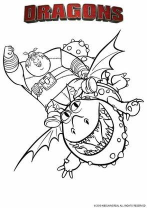 Coloriage Varek Et Bouledogre Coloriage Dragons Par Dela Les