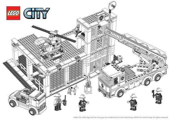 Coloriage Lego City La Caserne Des Pompiers Coloriage Lego