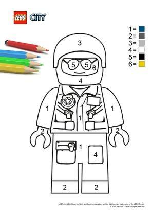 Coloriage Lego City Le Policier Coloriage Lego City Coloriages Dessins Animes