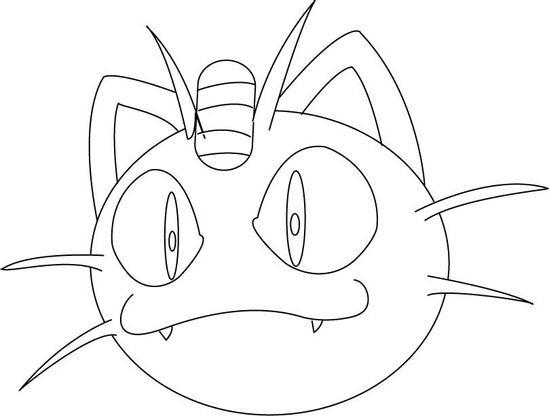 Coloriage Miaouss Est Malin Coloriage Pokemon