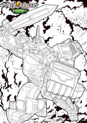 Coloriage Megazord Coloriage Power Rangers Beast Morphers