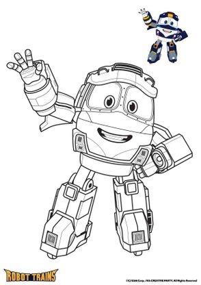 Coloriage Kay Coloriage Robot Trains Coloriages Dessins Animes