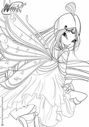Coloriage Winx Club Musa Coloriage Winx Club Coloriages Dessins Animes