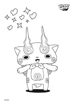 Coloriage Komasan Coloriage Yo Kai Watch Coloriages Dessins Animes