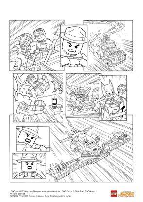 Coloriage Lego Batman 3 Robin Et Batgirl A La Rescousse
