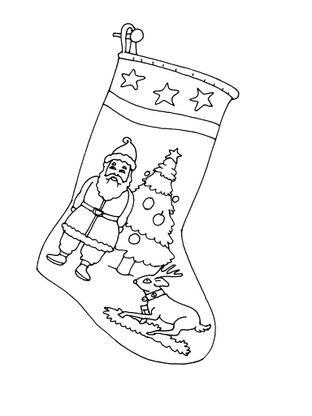 Coloriage Noel Une Chaussette De Noel Coloriage Noel