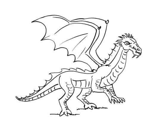 Coloriage Dragon 3 Coloriage Dragons Coloriages Personnages