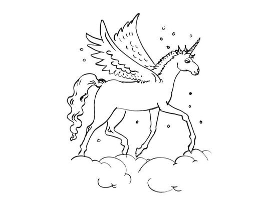 Coloriage Licorne 13 Coloriage Licornes Coloriages Personnages