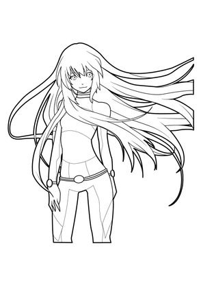 Coloriage Manga 3 Coloriage Mangas Coloriages Personnages