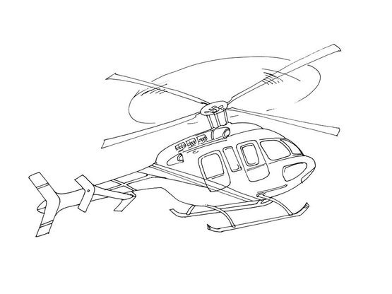 Coloriage Hélicoptère 8 Coloriage Helicopteres