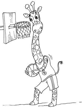 Coloriage Girafe 17 - Coloriage Girafes - Coloriages Animaux