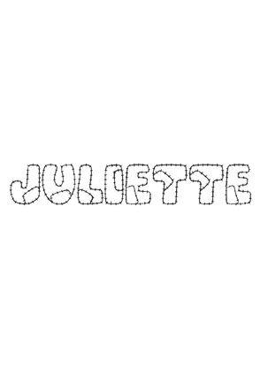 Coloriage Juliette - Coloriage Prenoms - Coloriages Divers