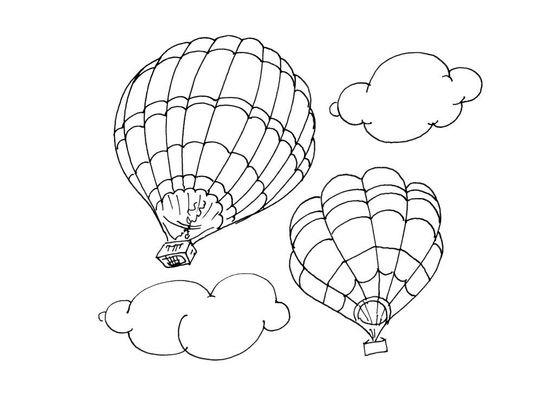 Coloriage Ballon dirigeable 4 - Coloriage Ballons ...