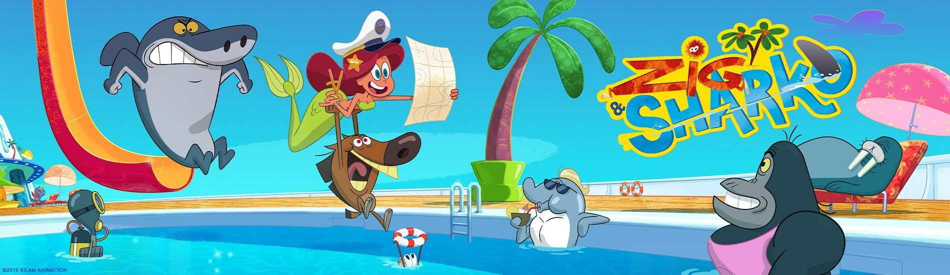 Zig et Sharko en streaming sur Gulli Replay