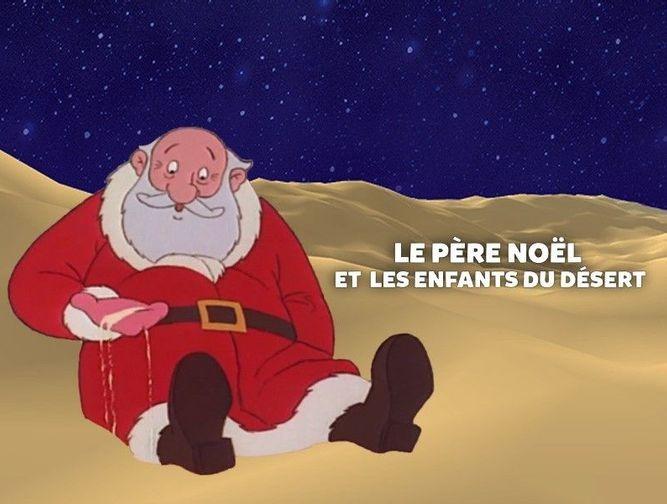 Le Père Noël et les enfants du désert
