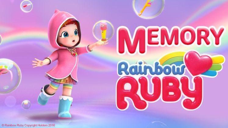 Joue au Memory avec Rainbow Ruby !